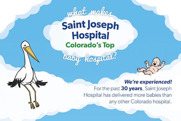 Saint Joseph Hospital | Colorado's Top Baby Hospital Infographic