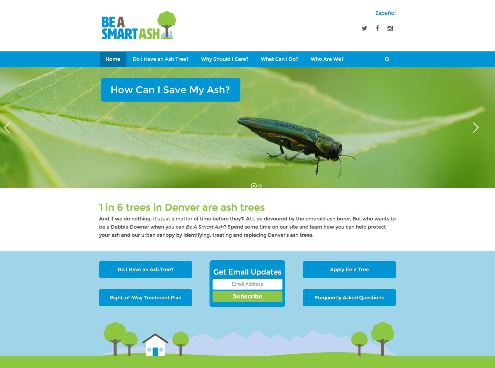 Denver Parks Smart Ash Website Design 4