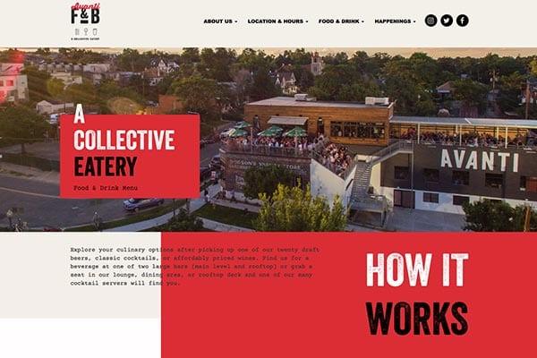 Avanti Food & Beverage | Website Design & Development